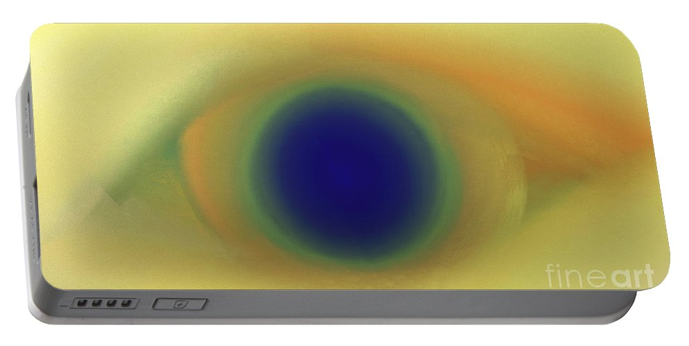 Andee Design Abstract Portable Battery Charger featuring the digital art Eye Spy Abstract by Andee Design