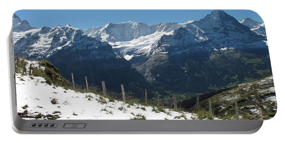 Eiger Portable Battery Charger featuring the photograph Eyeful Of The Eiger by Mary Ellen Mueller Legault