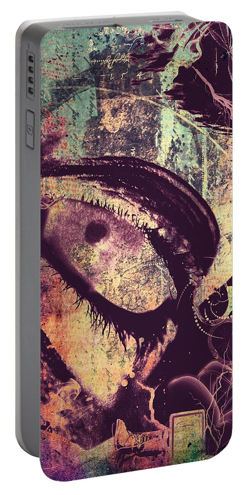 Abstract Art Portable Battery Charger featuring the photograph Eyes Despise by The Artist Project