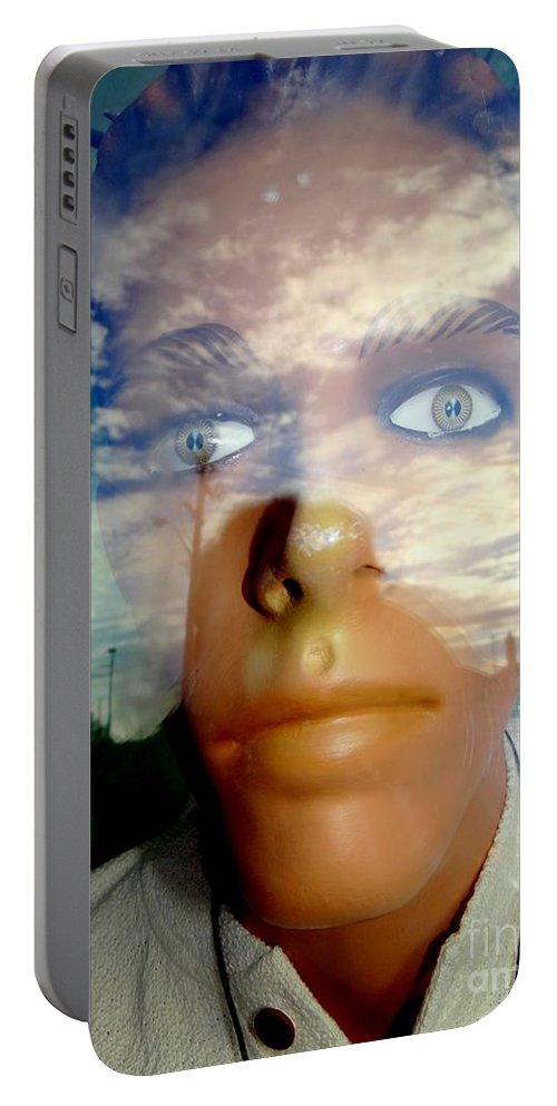 Mannequins Portable Battery Charger featuring the photograph Eyes On The Horizon by Ed Weidman