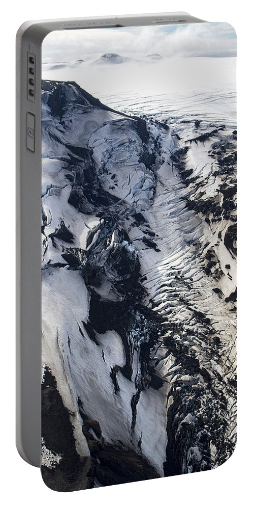Iceland Portable Battery Charger featuring the photograph Eyjafjallajokull And The Glacier by For Ninety One Days
