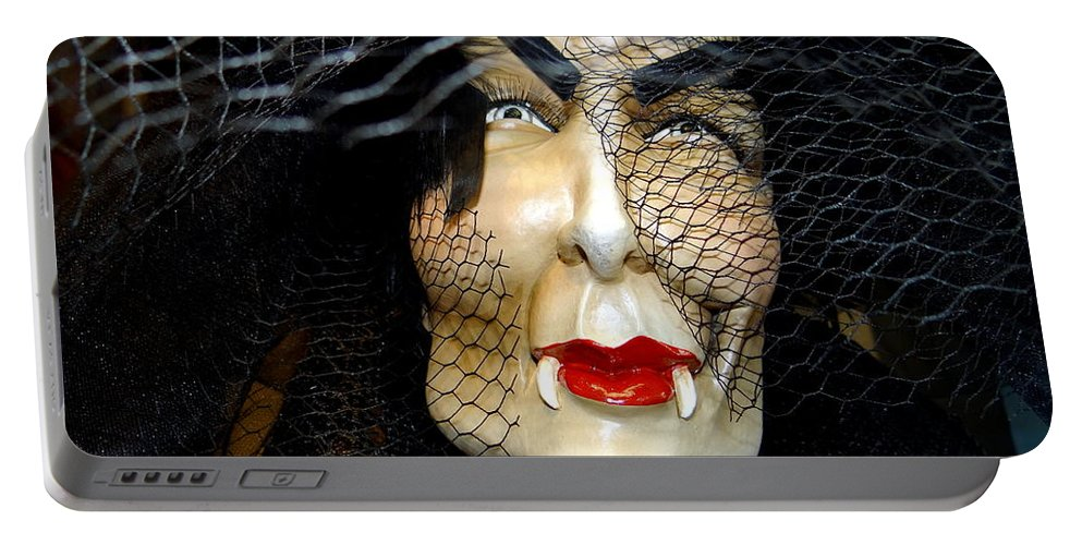 Mannequins Portable Battery Charger featuring the photograph Fabulous In Fangs by Ed Weidman