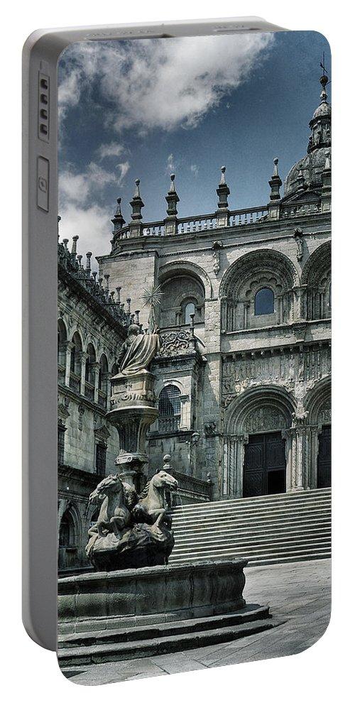 Fa�ade Portable Battery Charger featuring the photograph Facade Of The Silverware In Santiago De Compostela by Guido Montanes Castillo