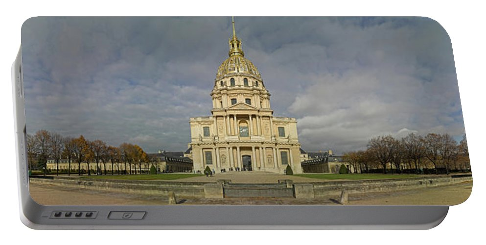 Photography Portable Battery Charger featuring the photograph Facade Of The St-louis-des-invalides by Panoramic Images
