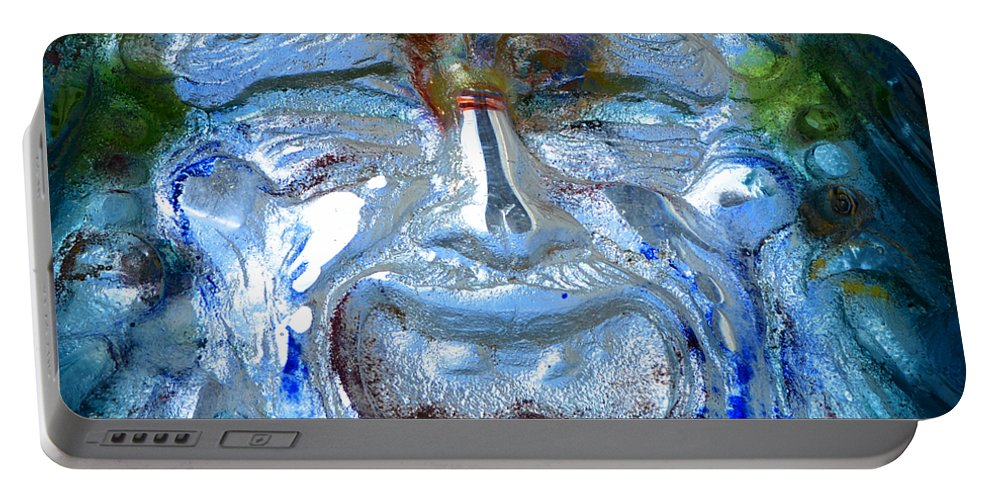 Fine Art Photography Portable Battery Charger featuring the photograph Face In Glass by David Lee Thompson