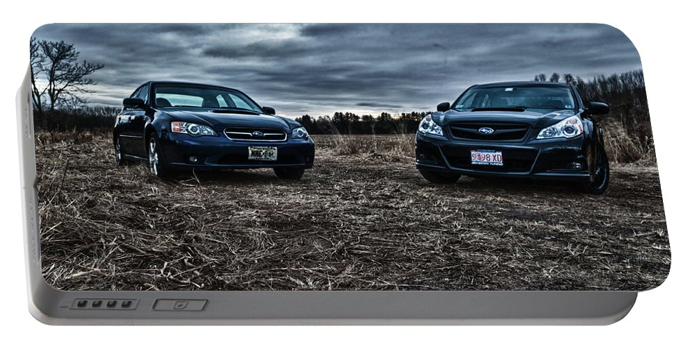 Subaru Portable Battery Charger featuring the photograph Face Off by Ryan Crane