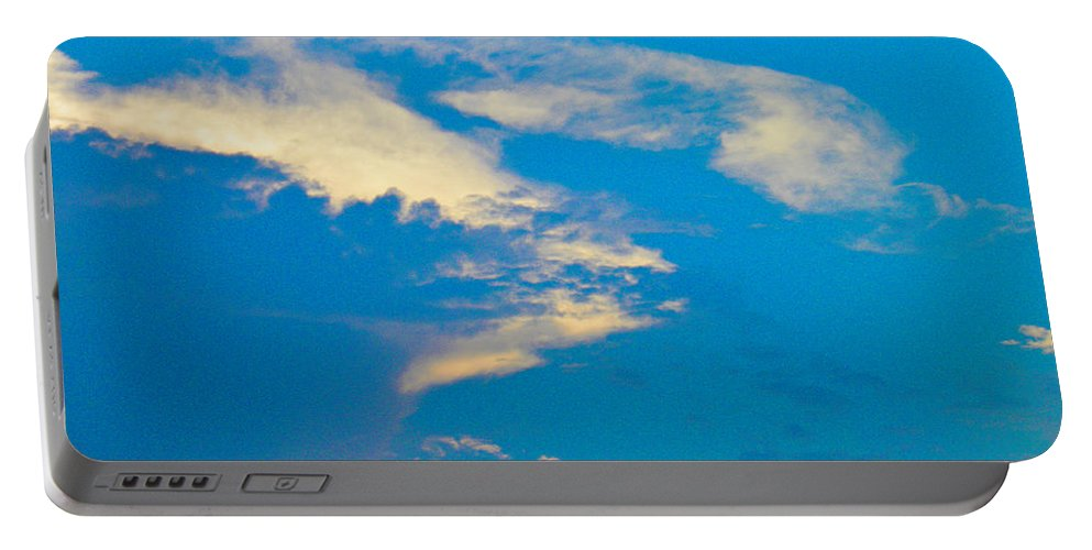 Sunset Portable Battery Charger featuring the photograph Fading Clouds by Nick Kirby
