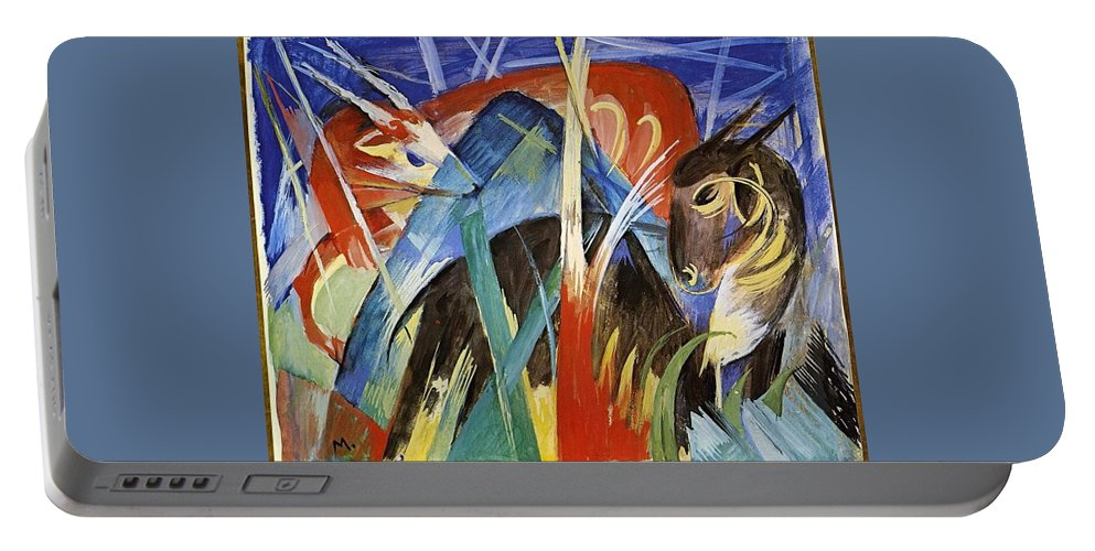 Franz Portable Battery Charger featuring the painting Fairy Animals 1913 by Franz Marc
