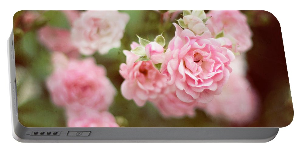 Flowers Portable Battery Charger featuring the photograph Fairy Roses by Bethany Helzer