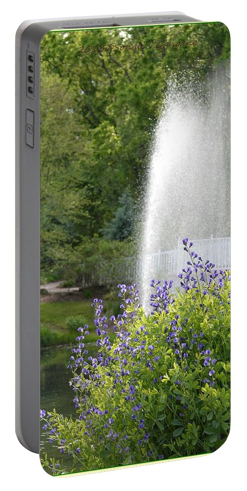 Fountain Portable Battery Charger featuring the photograph Fairy Tale by Sonali Gangane
