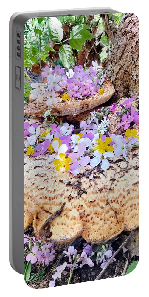 Fairy Portable Battery Charger featuring the photograph Fairy Trumpets by Art Dingo