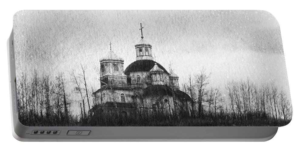 Church Portable Battery Charger featuring the photograph Faiths Hill by The Artist Project