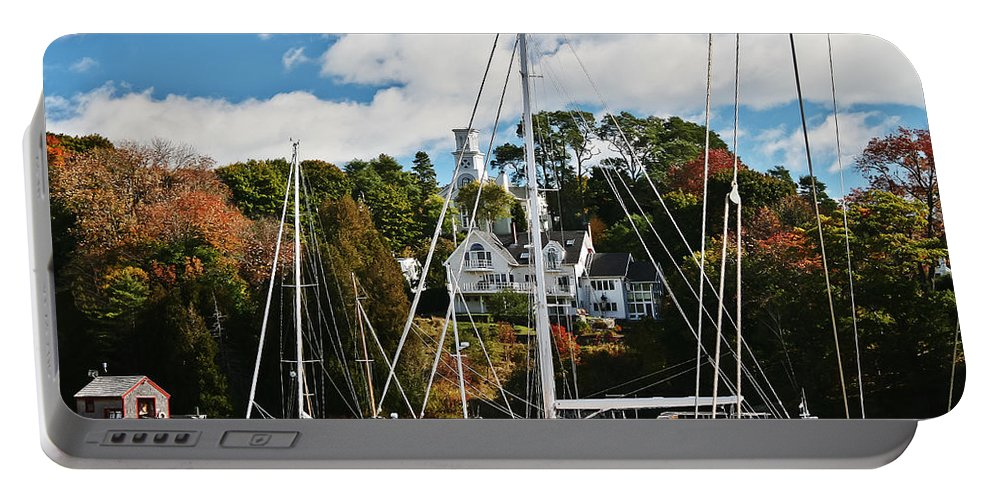 Travel Portable Battery Charger featuring the photograph Fall And The Sailboats by Elvis Vaughn