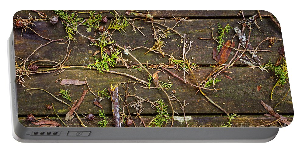 Age Portable Battery Charger featuring the photograph Fall Background by Carlos Caetano
