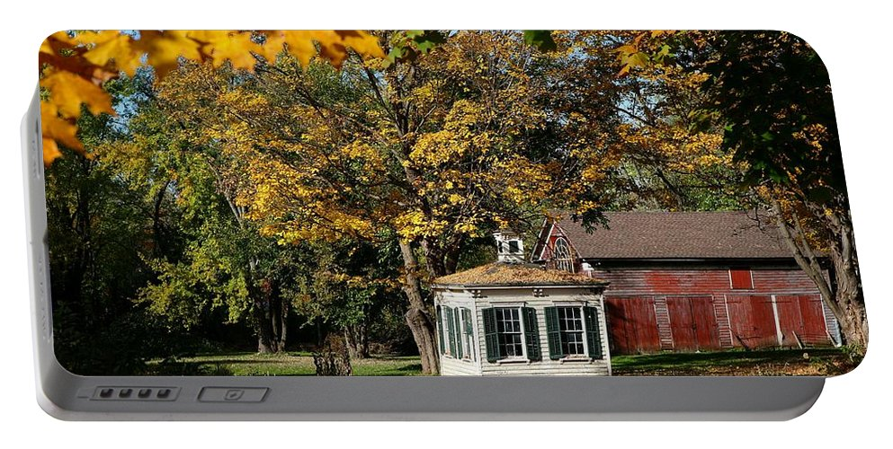 Autumn Portable Battery Charger featuring the photograph Fall Barn by Eric Swan