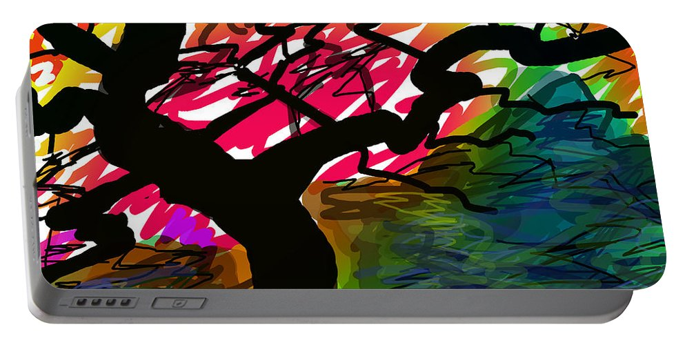 Fall Portable Battery Charger featuring the digital art Fall Breeze by Paul Sutcliffe