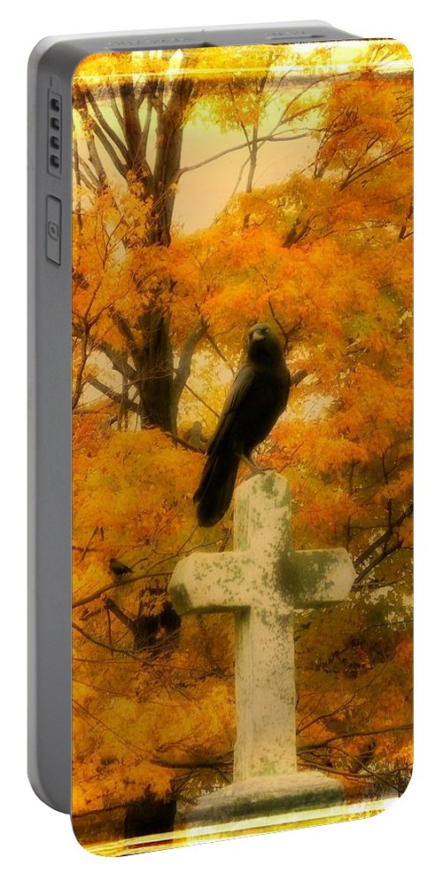 Fall Portable Battery Charger featuring the photograph Fall Burst by Gothicrow Images