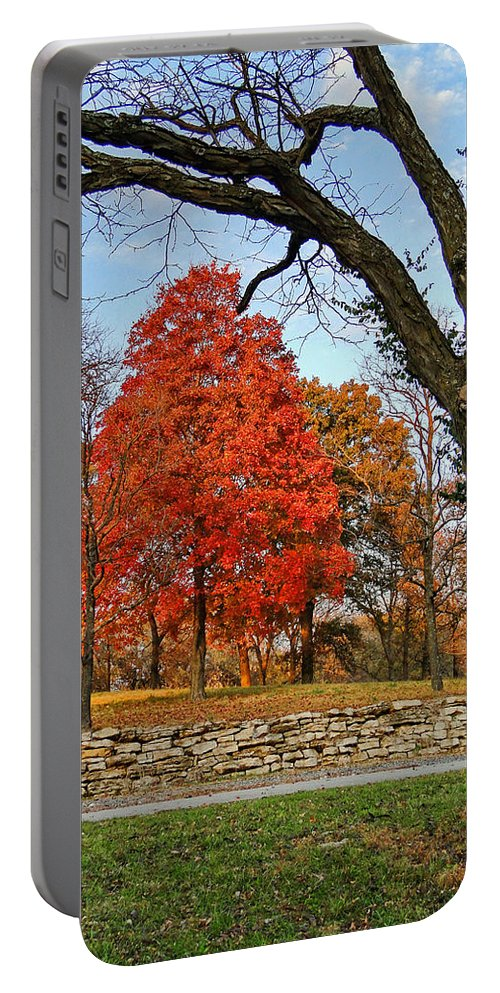 Fall Portable Battery Charger featuring the photograph Fall Colors by Alan Hutchins