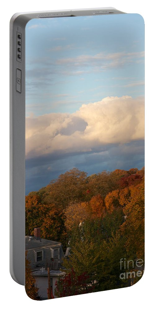 America Portable Battery Charger featuring the photograph Fall Colors In New England by Jannis Werner