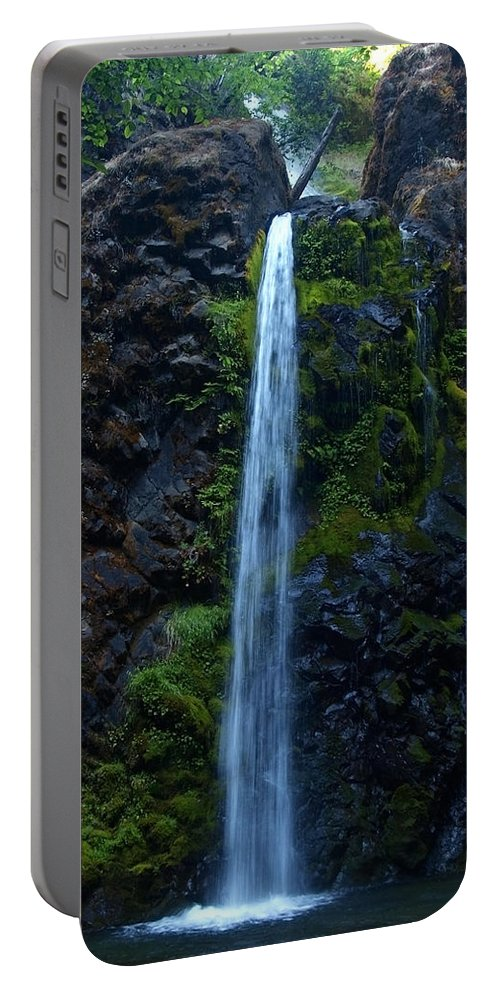 Water Portable Battery Charger featuring the photograph Fall Creek Falls II by Teri Schuster