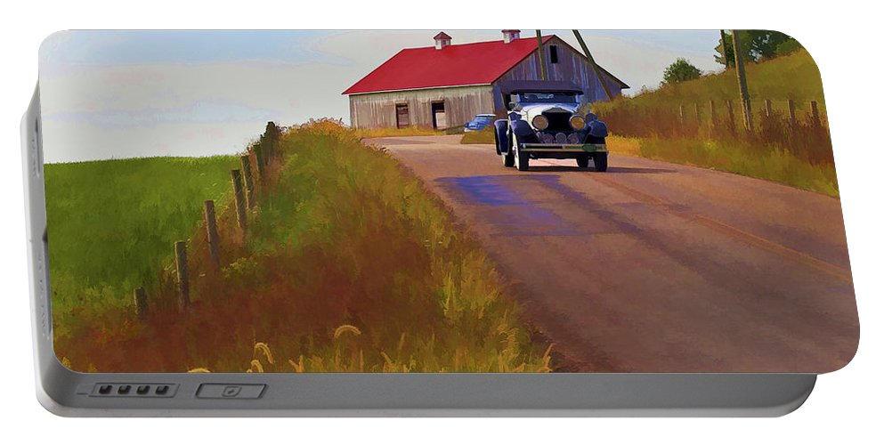 Barn Portable Battery Charger featuring the photograph Fall Day by Jack R Perry