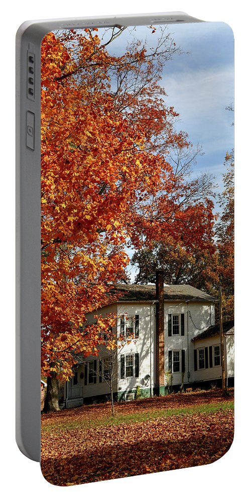 Martin Van Buren National Historic Site Portable Battery Charger featuring the photograph Fall In Kinderhook by Eric Swan