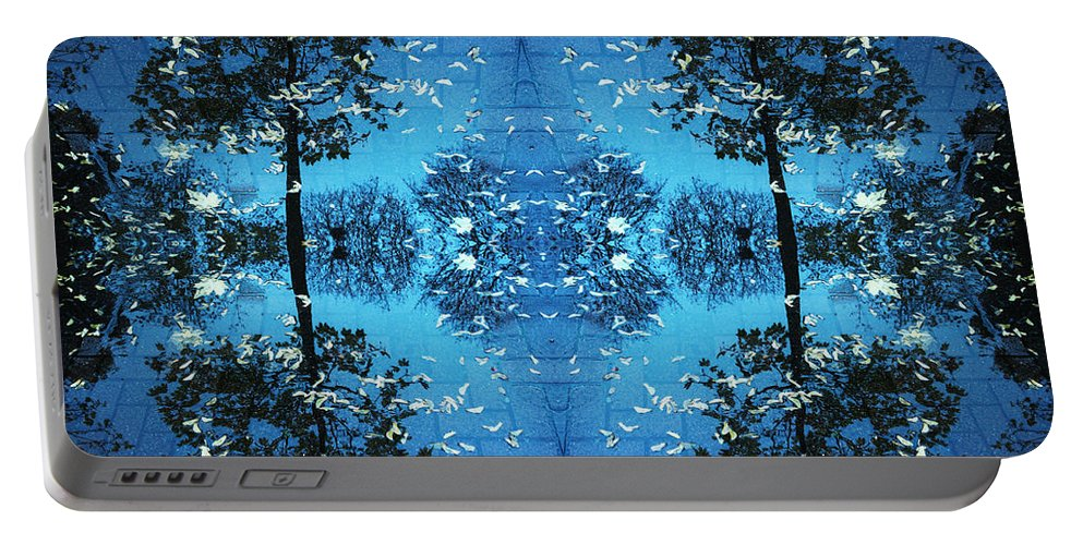 Kaleidoscope Portable Battery Charger featuring the photograph Autumn Leaves Fall by Andy Prendy