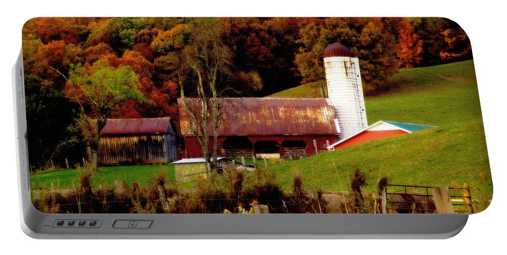 Fall Portable Battery Charger featuring the photograph Fall On The Farm by Lj Lambert