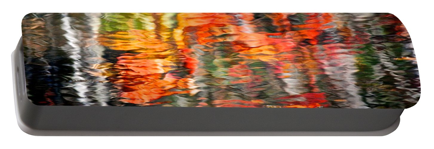 Fall Portable Battery Charger featuring the photograph Fall Reflections by Frozen in Time Fine Art Photography