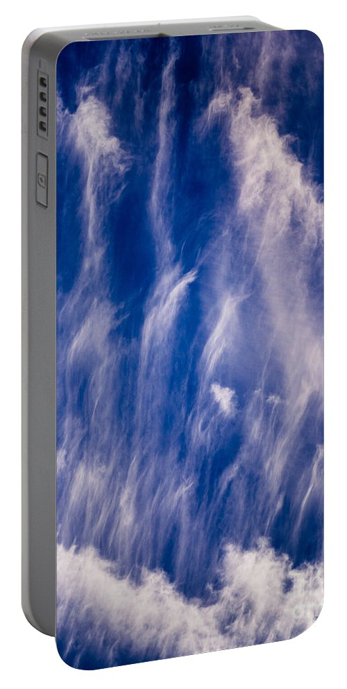 Atmosphere Portable Battery Charger featuring the photograph Fall Streak Clouds by Tracy Knauer