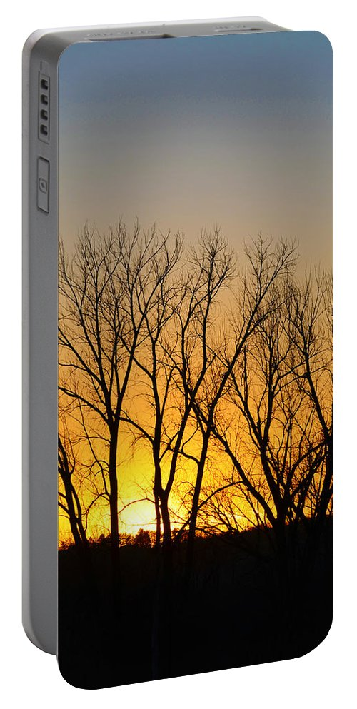 Sunset Portable Battery Charger featuring the photograph Fall Sunset by Gary Mosman