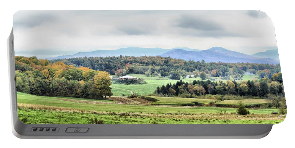 Portable Battery Charger featuring the photograph Fall Vermont Landscape by Deborah Benoit