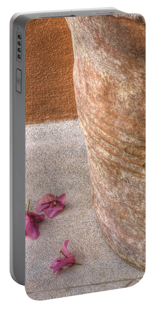 Fallen Flowers Portable Battery Charger featuring the photograph Fallen Flowers by Lindley Johnson