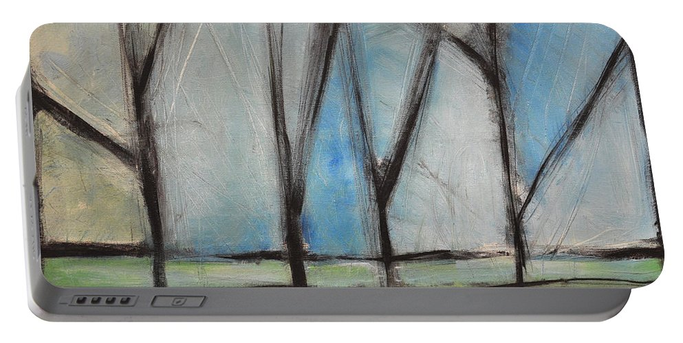 Trees Portable Battery Charger featuring the painting Family by Tim Nyberg