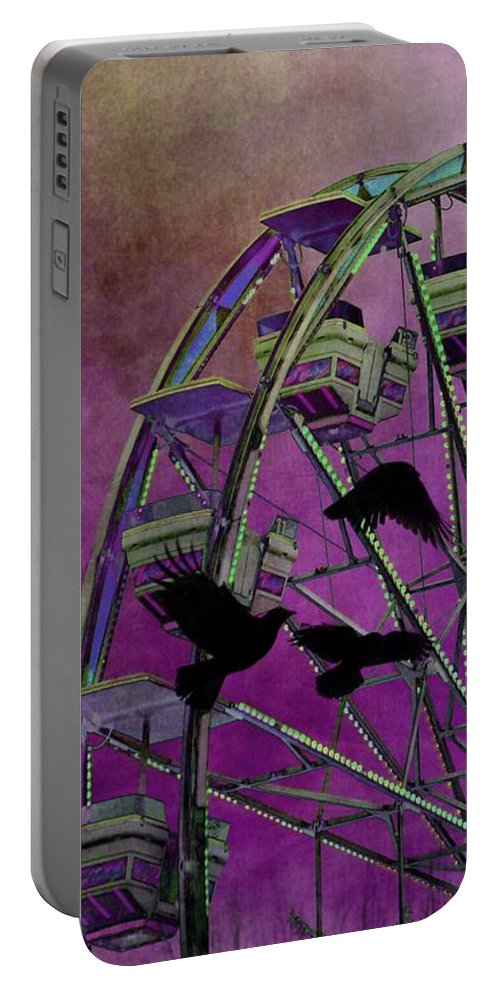 Fantasy Art Portable Battery Charger featuring the photograph Fantasy Ferris-wheel by Gothicrow Images