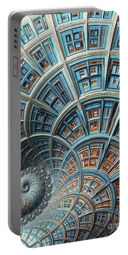 Art Portable Battery Charger featuring the digital art Fantasy High Rise by Heidi Smith