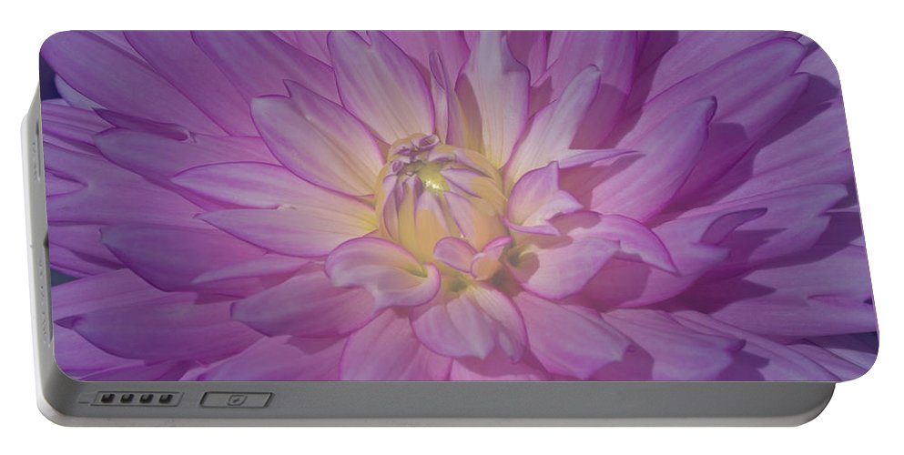 Pink Portable Battery Charger featuring the photograph Fantasy In Pink by Ann Horn