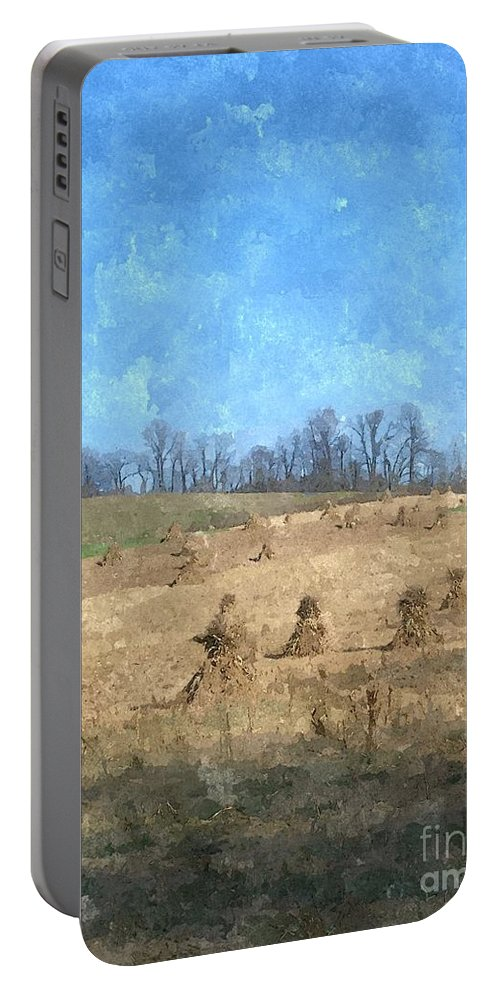 Farm Portable Battery Charger featuring the painting Farm Days 2 by Sara Raber