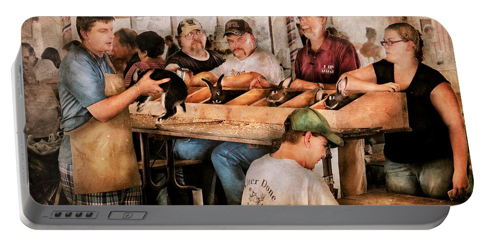 Savad Portable Battery Charger featuring the photograph Farm - Farmer - By The Pound by Mike Savad