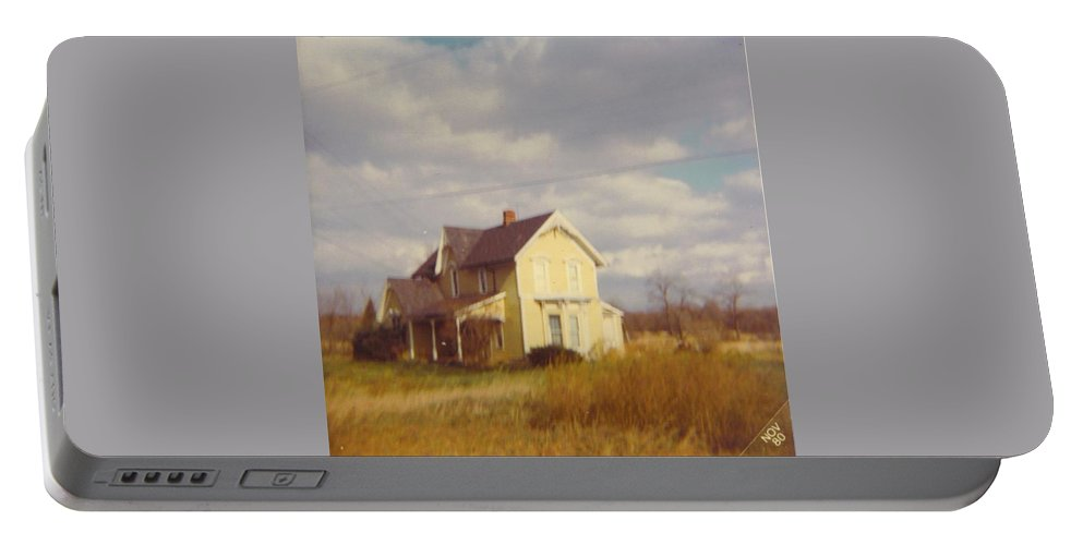 Michigan Farm House Portable Battery Charger featuring the photograph Farm House And Landscape by Robert Floyd