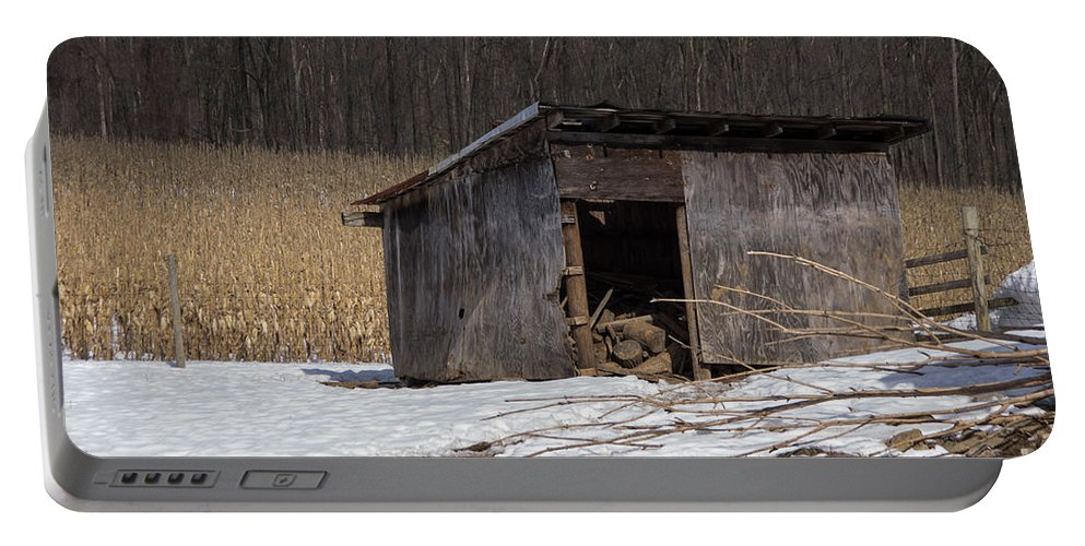 Farm Portable Battery Charger featuring the photograph Farm Shed by Jay Ressler