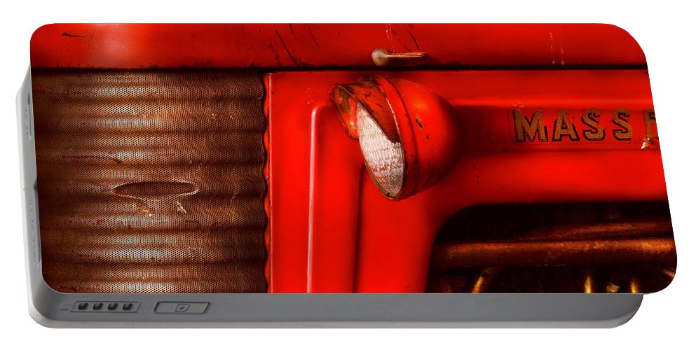 Savad Portable Battery Charger featuring the photograph Farm - Tractor - The Tractor by Mike Savad