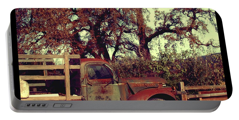Truck Portable Battery Charger featuring the photograph Farm Truck by Jill Battaglia
