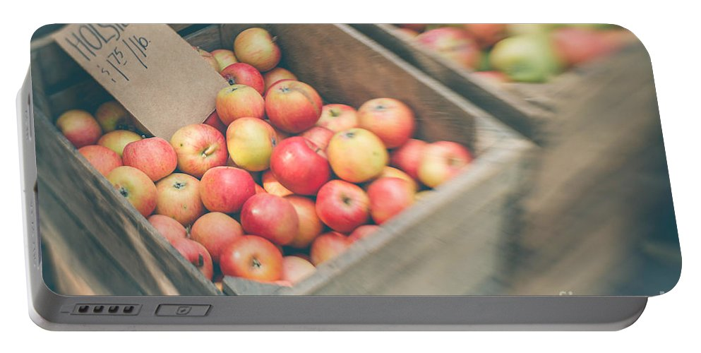 Apple Portable Battery Charger featuring the photograph Farmers' Market Apples by Bethany Helzer