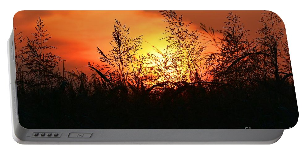 Sunrise Portable Battery Charger featuring the photograph Farmer's Sunrise by Deanna Cagle