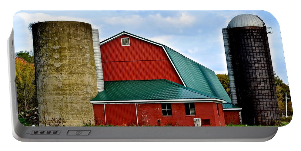 Farm Portable Battery Charger featuring the photograph Farming by Frozen in Time Fine Art Photography