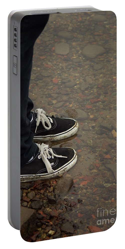 Fashion Portable Battery Charger featuring the photograph Fashion Meets Nature by Cindy Johnston