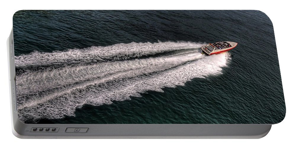 Pier Portable Battery Charger featuring the photograph Fast And Furious by Svetlana Sewell