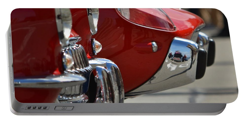 Red Portable Battery Charger featuring the photograph Fast Sports Cars by Dean Ferreira
