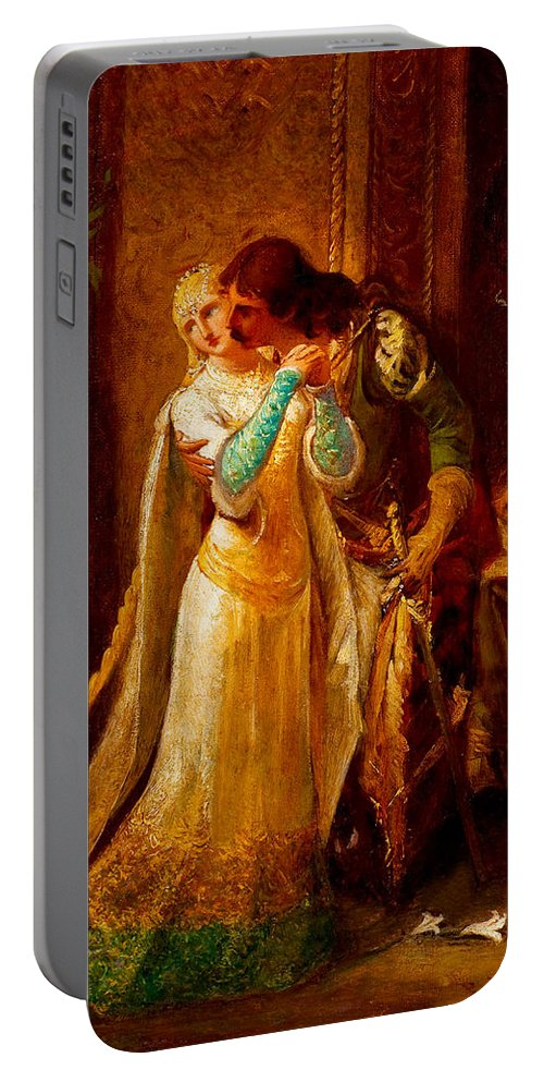 Pedro Americo Portable Battery Charger featuring the digital art Faust And Gretchen by Pedro Americo